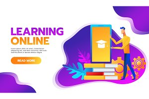 online training courses vector