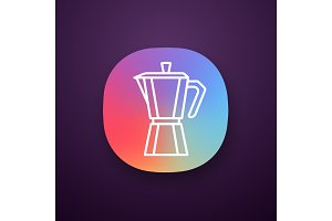 Stove top coffee maker app icon