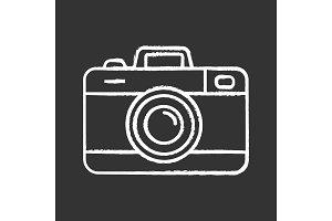 Photo camera chalk icon