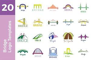 20 Logo Bridge Templates Bundle