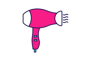 Hair dryer color icon