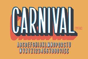 Retro 3d display font design