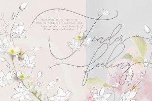 Tender Feeling ~ Monograms/Logos