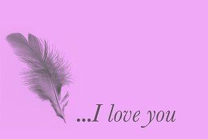 Romantic phrase written with a pen