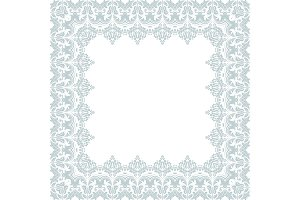 Floral Vector Frame. Abstract
