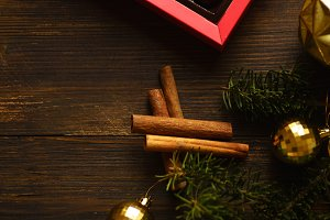 Christmas atmosphere flatlay