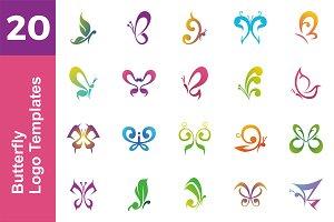 20 Logo Butterfly Templates Bundle