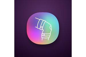 Knee brace app icon