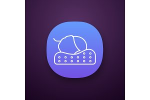 Orthopedic pillow app icon