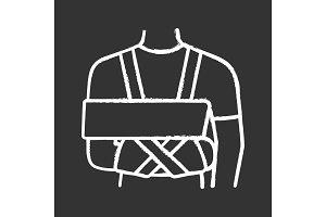 Shoulder immobilizer chalk icon