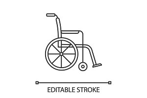 Wheelchair linear icon
