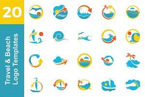 20 Logo Travel & Beach Templates Bun