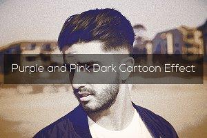 Purple and Pink Dark Cartoon Effect