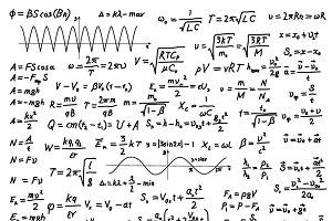 Complicated scientific formulas