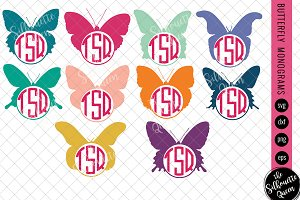 Butterfly Svg, Monogram Svg
