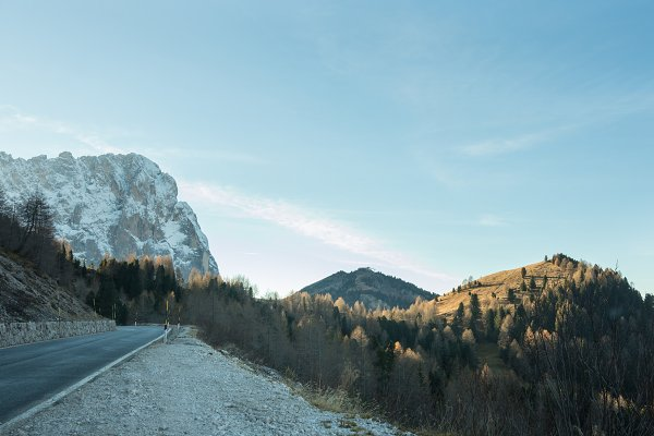 Nature Stock Photos - The stretch of road on a background