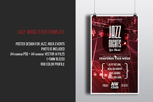 Jazz Nights Music Flyer Template
