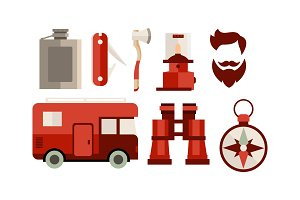 Flat vector set of icons related to