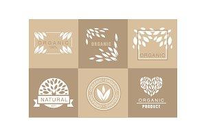 Vector set of creative logos with