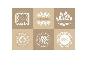 Vector set of monochrome emblems
