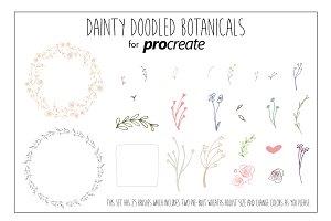 Dainty Doodled Botanicals