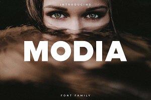 Modia Font Family - Sans Serif