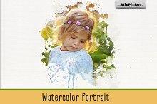 Watercolor Portrait Photo Masks