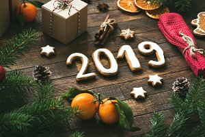 Christmas or New Year 2019 greeting