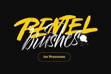 Pentel Brushes for Procreate by  in Brushes