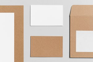 Branding / Stationery Mock-Up - Kraf