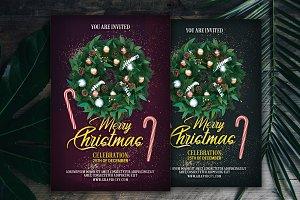 Christmas Celebration Flyer Template