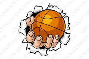 Basketball Ball Hand Tearing