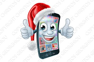 Christmas Cell Mobile Phone Cartoon