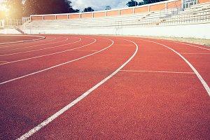 Red running track