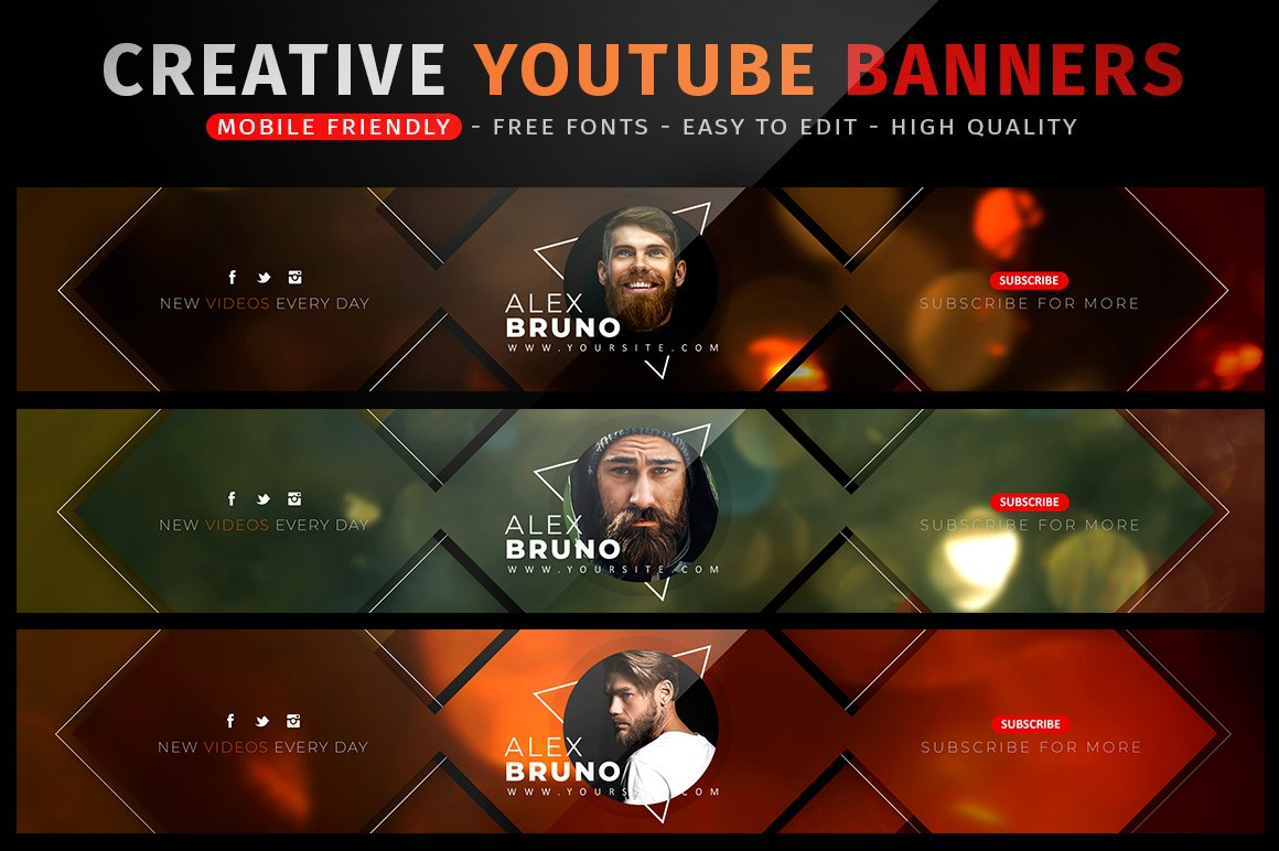 Creative YouTube Banners