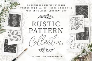 Rustic Patterns +58 Illustrations