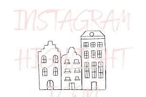 Amsterdam Netherlands Instagram Icon