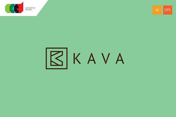 kava letter k logo template logos