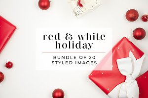 Red + White Holiday Stock Bundle