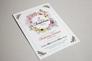 Floral Christmas Party Flyer