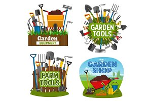 Farm and gardening tools, equipment