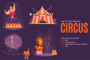 Circus Cartoon Set