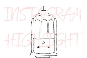 Lisbon Portugal Tram Instagram Icon