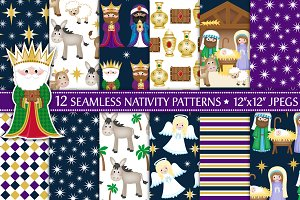Christmas Nativity Digital Paper