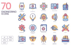 70 Engineering Icons
