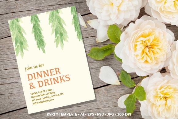 Garden party invitation invitation templates creative market stopboris Gallery