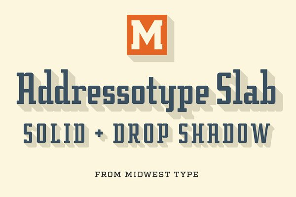 Display Fonts: Midwest Type - Addressotype Slab