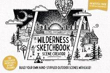 Wilderness Sketchbook Scene Creator by  in Illustrations