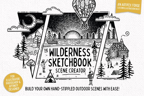 Graphics: The Artifex Forge - Wilderness Sketchbook Scene Creator