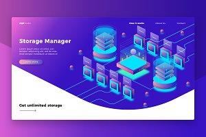 Storage Mngr - Banner & Landing Page